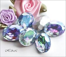 Blue Oval Glass Jewellery Making Beads