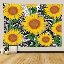 Yellow Sunflower Flower Tapestry Wall Hanging Bohemian Tapestry for Home Decor