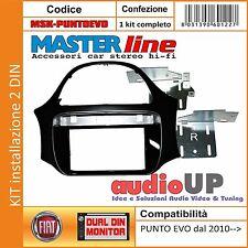 MASCHERINA AUTORADIO 2 DIN PER FIAT PUNTO EVO DAL 2010 IN POI. KIT CON STAFFE.