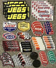 Jegs NHRA Racing Stickers Decals Summit K&N Thompson VP Fuels NGK Lucas Oil NTK