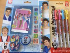 Stationary sets 1D pencil rubber sharpener rule notepad gel pens NEW FREEPOST