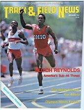 1987 Track and Field News World Championships Preview Issue Butch Reynolds USA