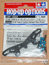 Tamiya 54632 TT-02 Type-S Carbon Damper Stay (Front) (TT02 Type-S Drift), NIP