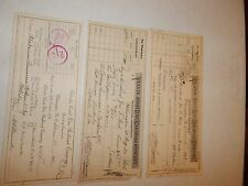3 ATLANTIC COAST LINE RAILROAD COMPANY ACCOUNTING DEPARTMENT CHECKS 1926 - 1937
