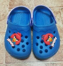 Clogs Watershoes Baby Boy Girl Unisex Blue Angry Bird Shoe Charm Size 20 New
