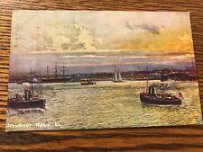 Boats and Sailboats Scene Newport News Virginia Va Postcard