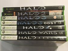 7 PAL XBOX (+360) GAMES BUNDLE HALO 1 I + 2 II + 3 III + ODST +4 IV +WARS +REACH