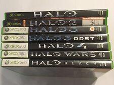 7 PAL XBOX (+360) Giochi Bundle Halo 1 I + 2 II + 3 III + ODST +4 IV + WARS + Reach
