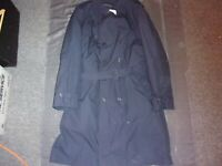 USAF US AIR FORCE BLUE MANS ALL WEATHER TRENCH OVER COAT W/ LINER 48 LONG