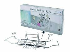 QUALITY EXPENDABLE OVER BATH TUB CADDY RACK WITH WINE CANDLE & BOOK HOLDER