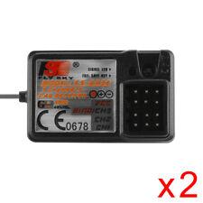 2x FS-GR3E AFHDS 2.4G 3CH Empfänger für RC Auto Boot GT3B/C GT2 TransmitterRC679