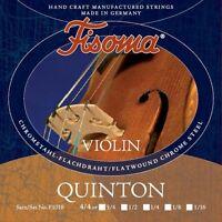 Fisoma QUINTON Violin Geige Saiten SATZ in 6 Größen Violin Strings SET