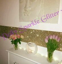 CHAMPANGE GRADE 3 SELF ADHESIVE GLITTER  WALLPAPER FABRIC BORDER  SOLD PER METRE