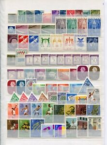 SURINAME 1953-94 COMPLETE MNH COLLN OF STAMPS ON (15) STOCKPAGES (1100)