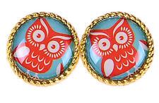 Cute Retro Eulen OWL Vintage Ohrstecker Rockabilly 50s Ohrring Ohrschmuck