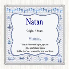 Natan Name Meaning Drinks Mat Coaster Nautical