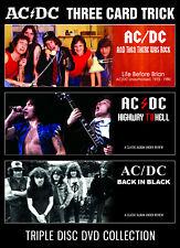 AC/DC New Sealed 2019 THREE CARD TRICK 3 DVD BOXSET
