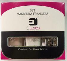 Elisabeth Llorca Set Manicura Francesa 3 X 10ML + Moldes ProfesionaL