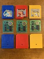 Pokemon Red Blue Yellow Version Nintendo Game Boy New Save Battery AUTHENTIC Lot