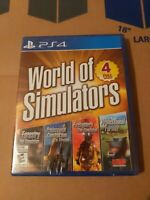 World of Simulators 4 Games PS4 Playstation 4 New Farming Forestry Construction