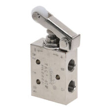 Silver Tone Air Pneumatic 2 Position 5 Way Toggle Switch Valve Tac2 41p