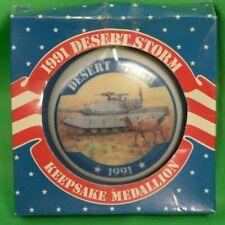 1991 Desert Storm Keepsake Medallion American Greetings Ceramic Tank
