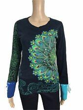 DESIGUAL-joli Coloré pull pull tricoté-neuf t s 36 2331