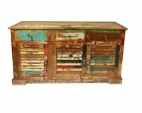 Reclaimed Wood Sideboard Cabinet Storage Antique Vintage Home Office Furniture