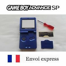 Coque GAME BOY ADVANCE SP bleu blue NEUF NEW + tournevis - shell case GBA