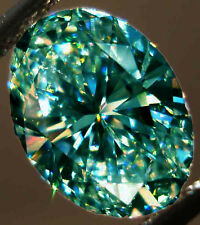 67.73 ct VS2 WHITE BLUE GREEN COLOR LOOSE OVAL REAL MOISSANITE 4 RING/PENDANT