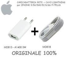 Caricabatteria A1400 Originale+Cavo Dati Usb iPhone 5S 6 6S 7 SE 8 Xs XPlus XR