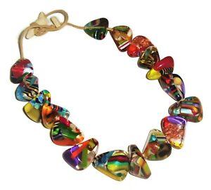 Sobral Preterito Perfeito Fresh Gloria Large Inclusion Bead Artist Made Necklace