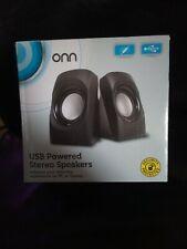 onn usb powered stero speakers
