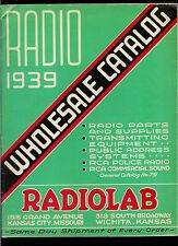 Super Rare Vintage 1939 Radiolab Electronics Catalog Radios Parts & More