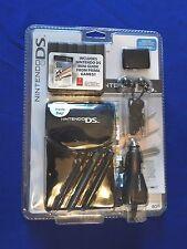 Nintendo DS Lite Starter Kit Case Car Charger Headphones & More NEW