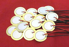 15 20mm Piezo Discs with Leads - Drum Trigger Contact Acoustic Pickup Guitar CBG