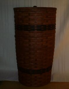 Handcrafted Round Hamper with Lid