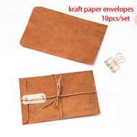 Nice 10PCS Vintage Kraft Paper Envelopes DIY Decorative School Office Supplies