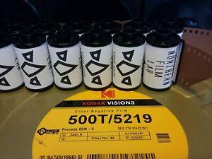 5 x Kodak Vision3 500T 35mm 12/2020 stock! freshest UK DX coded cine movie film