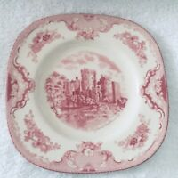 Johnson Brothers OLD BRITAIN CASTLES PINK Square Salad Plate 4740807.   7-5/8""