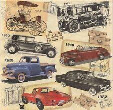 2 Serviettes en papier Voitures anciennes Decoupage Paper Napkins Classic Cars