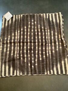 "pottery barn shibori 20"" charcoal # 11291"
