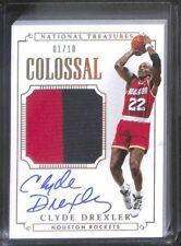 2014 Panini National Treasures Basketball Jersey Autograph #CJS-CD Clyde Drexler