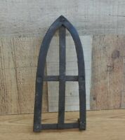 "Antique Large 10"" Handmade Wrought Iron Trivet 5 Legs"