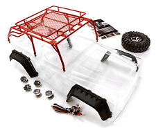 C26623RED Realistic JPX Body w/Steel Roll Cage & LED Light for 1/10 Crawler