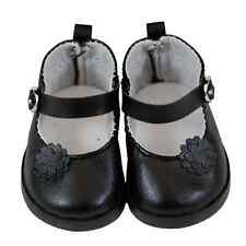 """18"""" Doll Black Mary Jane Style Shoes, Clothing Accessories Fits American Girl"""