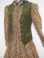 Suede Plus Size Vintage Waistcoats for Women
