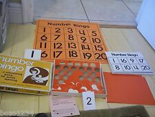 1999  NUMBER BINGO UP TO 36 PLAYERS TREND ENTERPRISES #T-102 ACTIVE LEARNING**