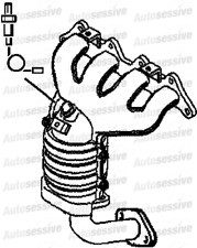 For Hyundai Coupe 2.0 G4Gc 141B Coupe Hn61D 01 To 05 Exhaust Catalytic Converter