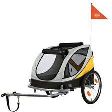 Trixie Fahrrad-Anhänger, grau/gelb/schwarz, Größe L: 78×78×86 (150 cm), bis 40kg